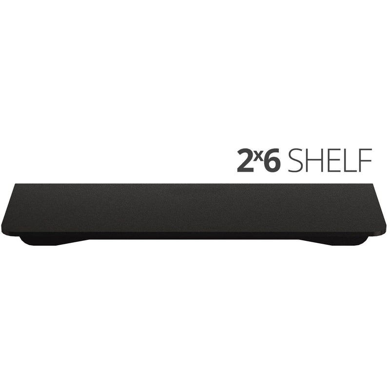 Small wall mounted shelves for home, office and garage - 2x6 top