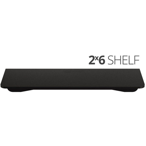 Image of Small wall mounted shelves for home, office and garage - 2x6 top