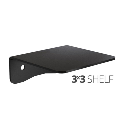 Small wall mounted shelf for home, office and garage - 3x3 angle