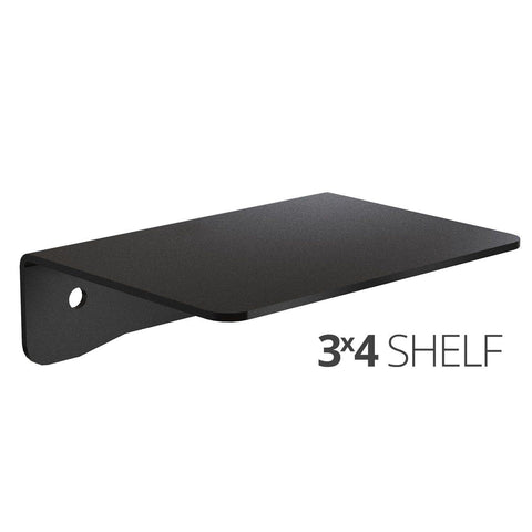 Small wall mounted shelf for home, office and garage - 3x4 angle
