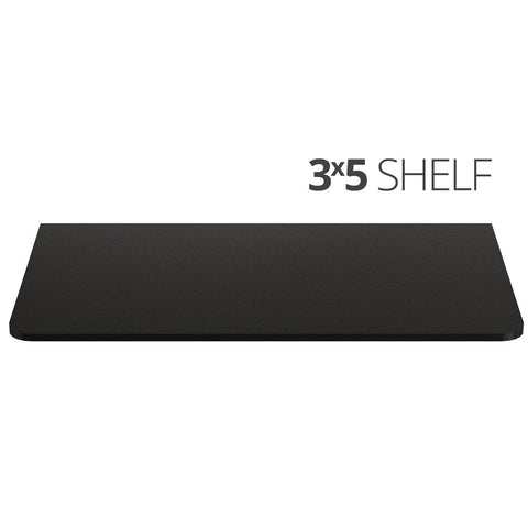 Small wall mounted shelf for home, office and garage - 3x5 top