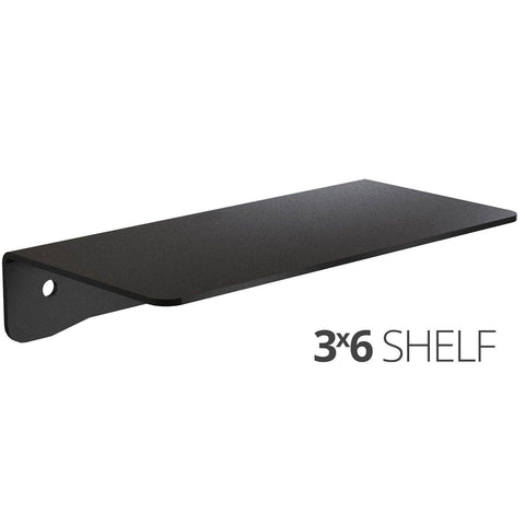 Small wall mounted shelf for home, office and garage - 3x6 angle