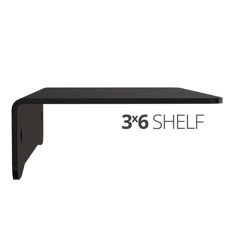 Small wall mounted shelf for home, office and garage - 3x6 side