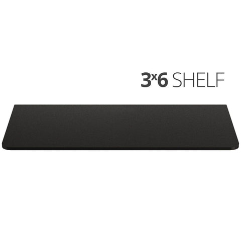 Image of Small wall mounted shelf for home, office and garage - 3x6 top
