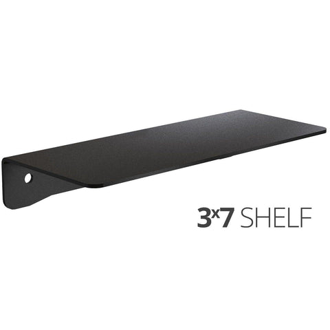 Small wall mounted shelf for home, office and garage - 3x7 angle