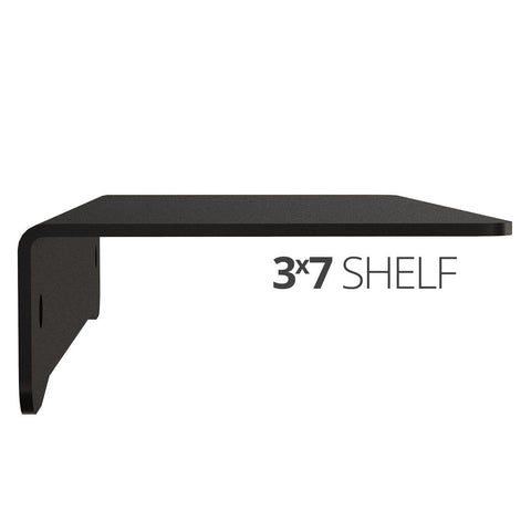 Small wall mounted shelf for home, office and garage - 3x7 side