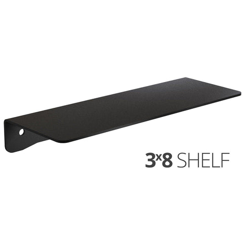 Small wall mounted shelf for home, office and garage - 3x8 angle