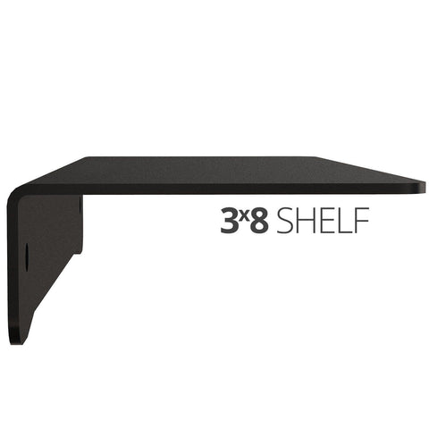 Small wall mounted shelf for home, office and garage - 3x8 side