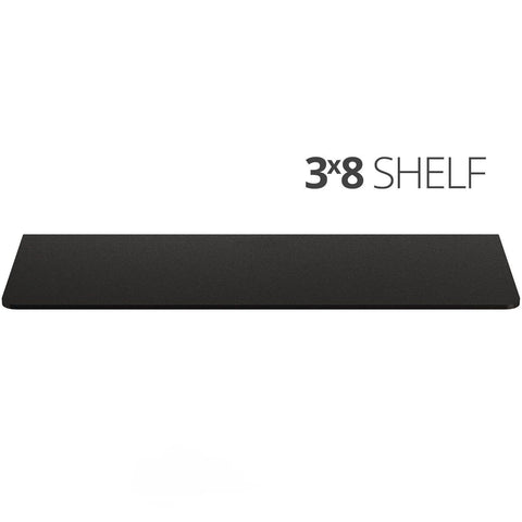 Small wall mounted shelf for home, office and garage - 3x8 top