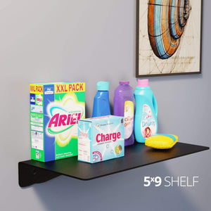 Wall Shelf by Koova for organizing your home or office organization - 5x0 in use example