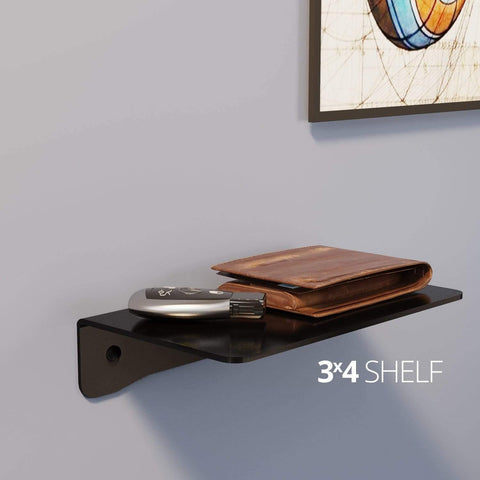 Small wall mounted shelf for home, office and garage - 3x4 shelf in use in room