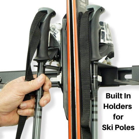 Wall mount snow ski rack wall ski rack holds skis and poles