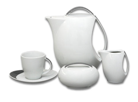 Decorative porcelain tea set