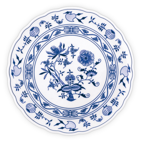 Traditional porcelain plates