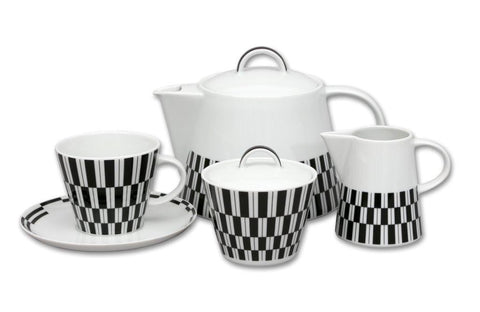 Decorative porcelain coffee set