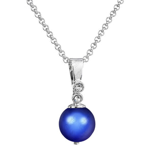 Necklace - Dark Blue Pearl