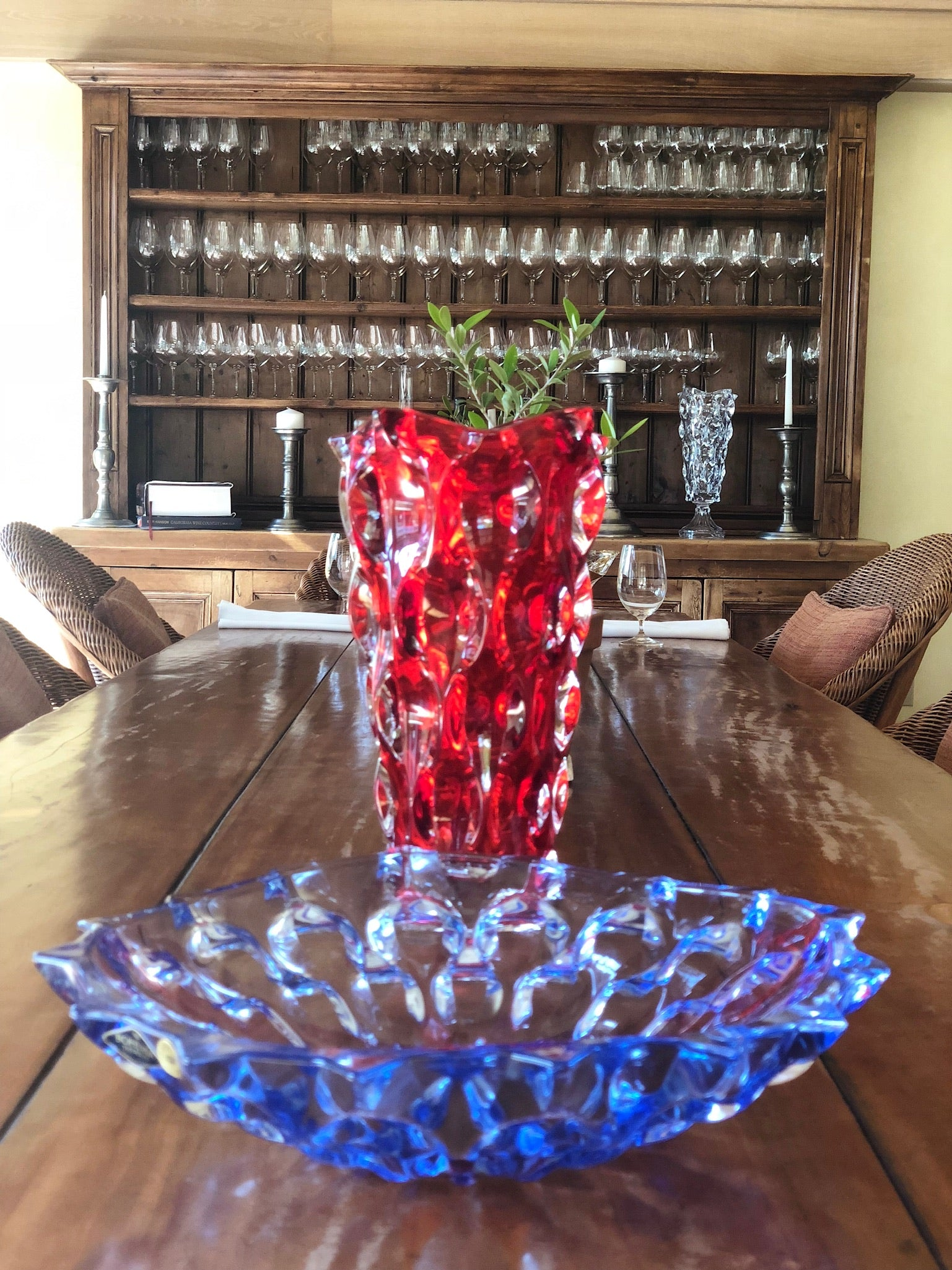 SAMBA Crystal Red Vase