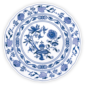 Traditional decorative porcelain plate