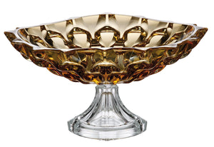 Crystal Amber Footed Bowl