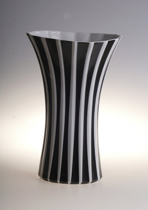 Retro stipes vase