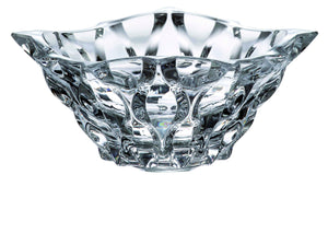 Tansparent round crystal glass bowl