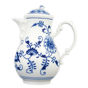 Traditional decorative porcelain coffee pot