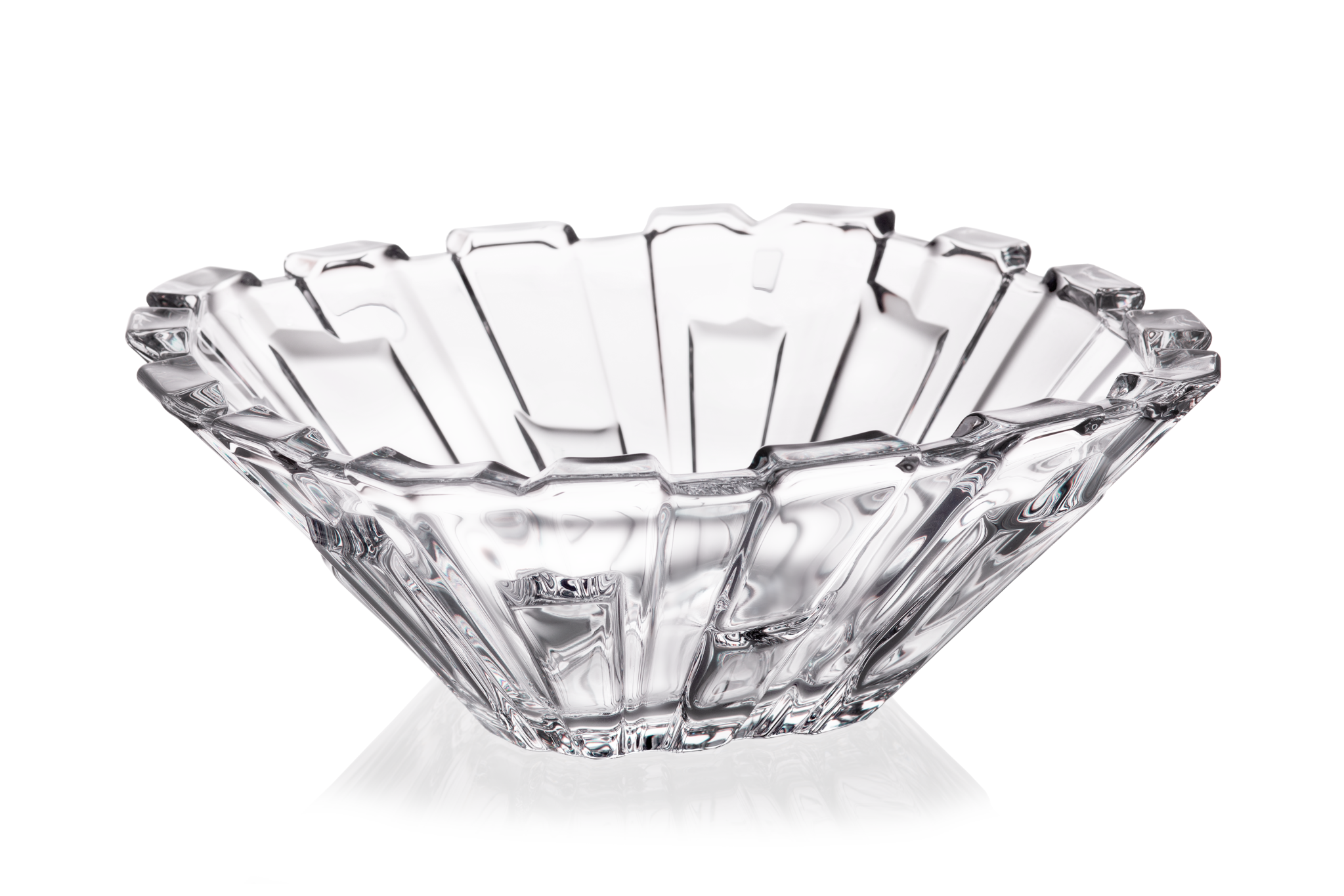 Crystal glass vase & bowl set