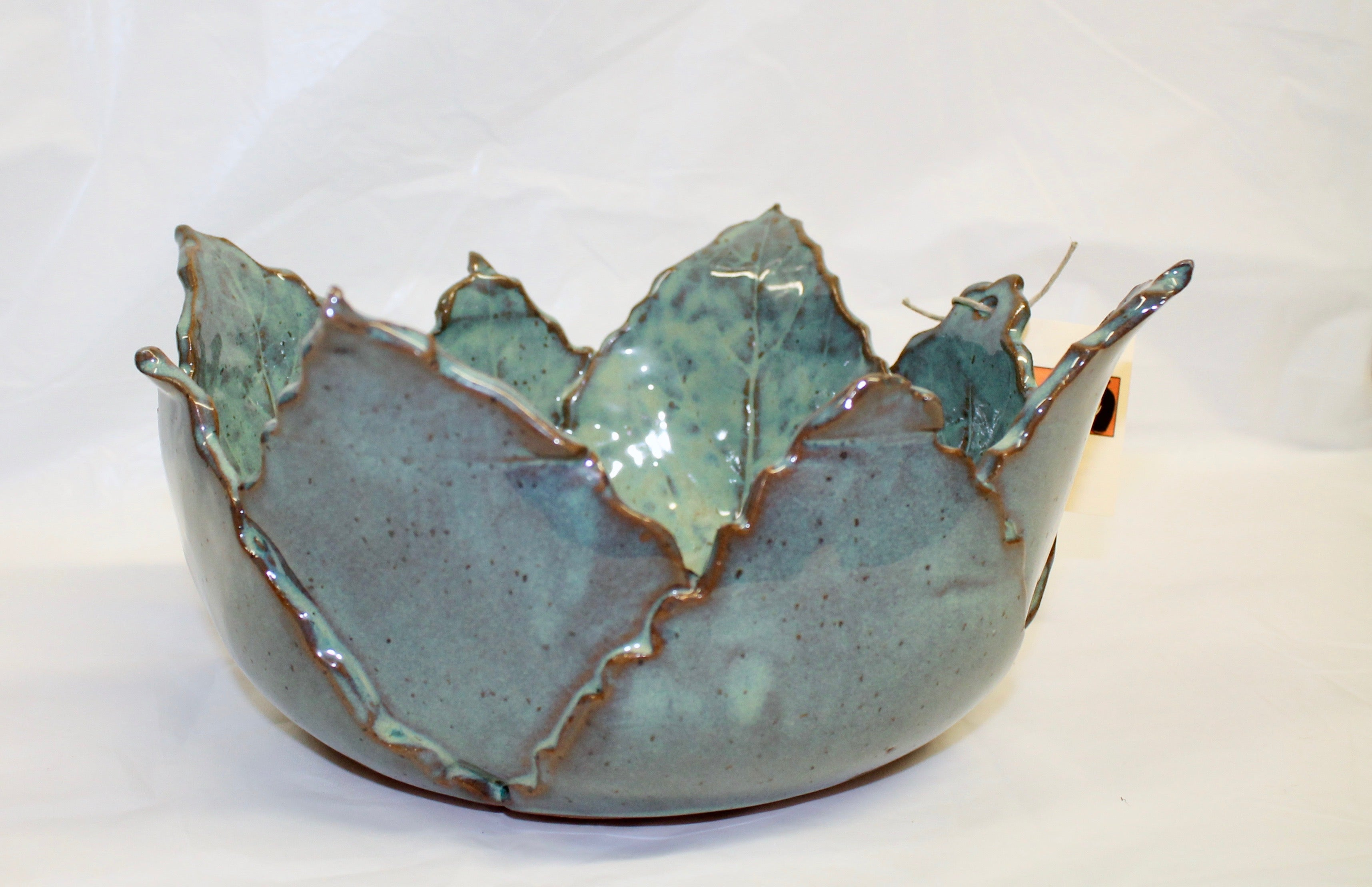 Hand built leaf bowl