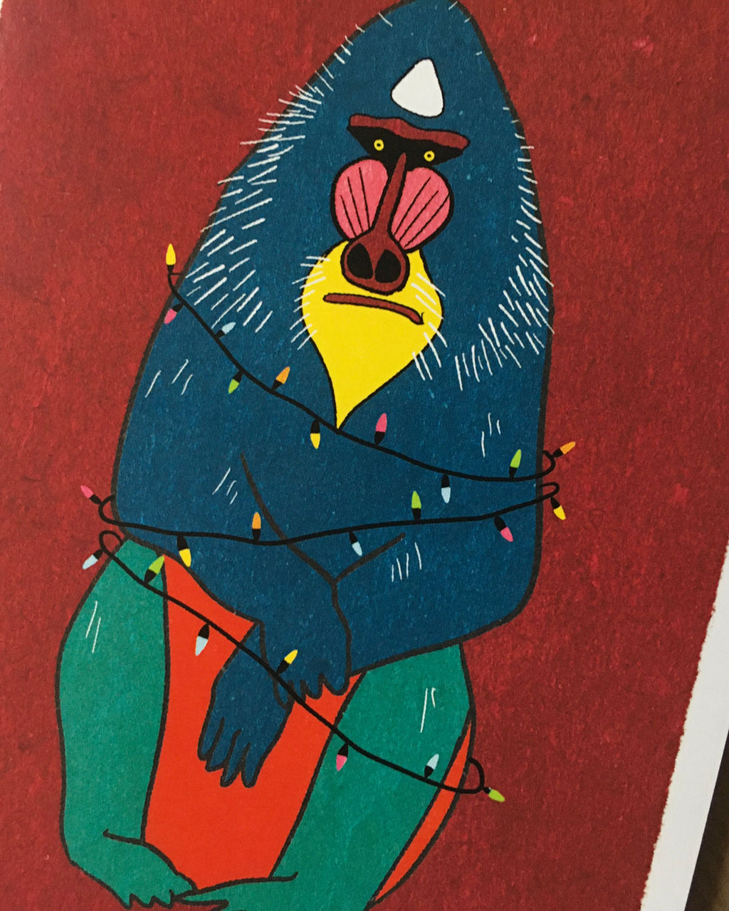Colourful Animal Christmas Cards - Packs of 5 or 10