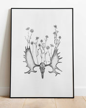 Load image into Gallery viewer, Pushing Up Daisies - print of original illustration on watercolour paper