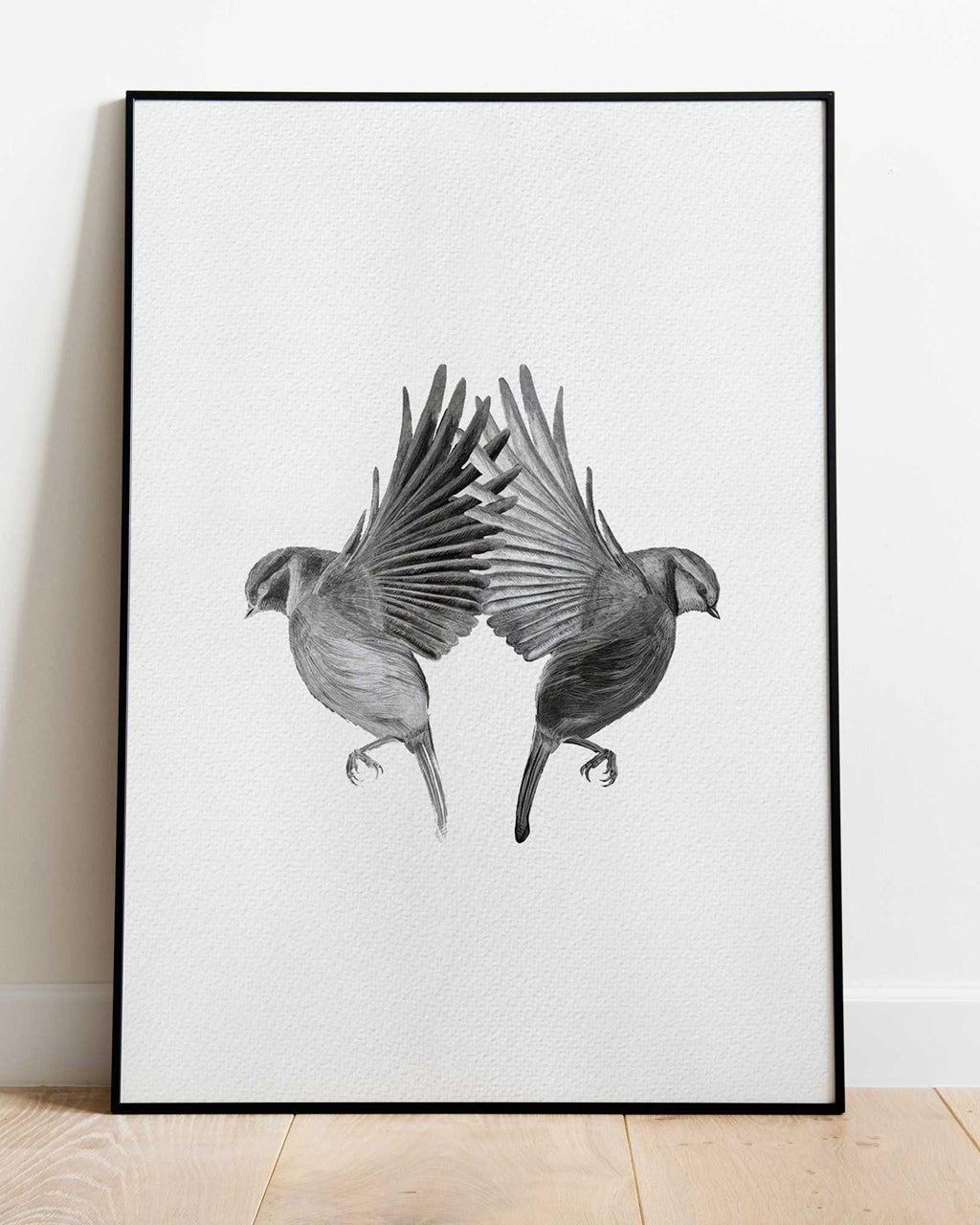 Two Blue Tits - print of original illustration on watercolour paper
