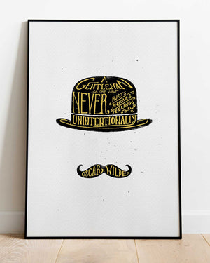 The Bowler Hat - print of original illustration on watercolour paper