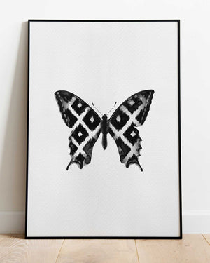 Ikat Butterfly- print of original illustration on watercolour paper