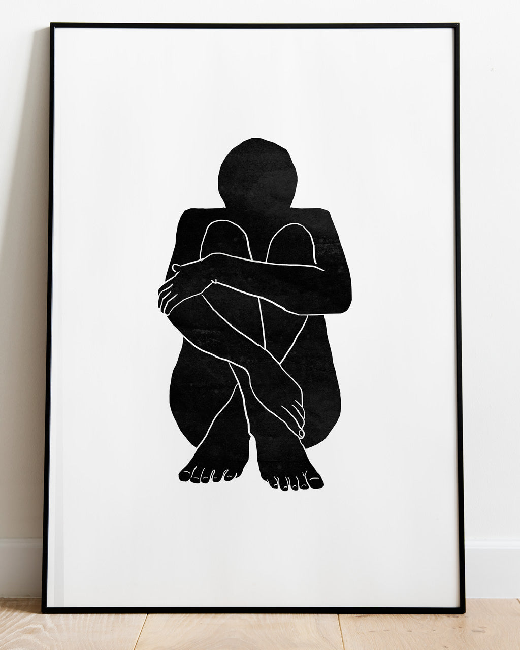 Cross legged Girl - Limited edition Screen Print - A2 size