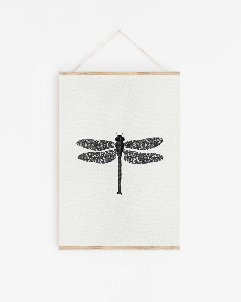 Lace Dragonfly - print of original illustration on watercolour paper