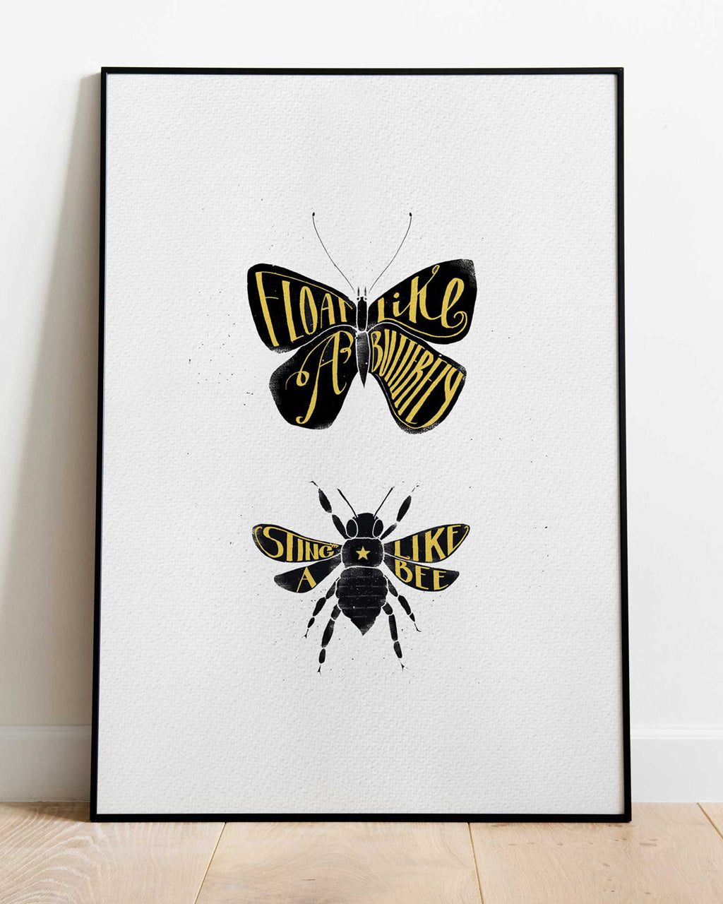 Float like a butterfly - print of original illustration on watercolour paper