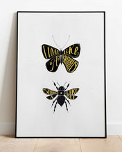 Load image into Gallery viewer, Float like a butterfly - print of original illustration on watercolour paper