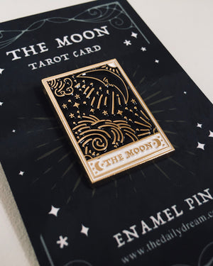 Moon Tarot Card - Enamel Pin Badge Brooch