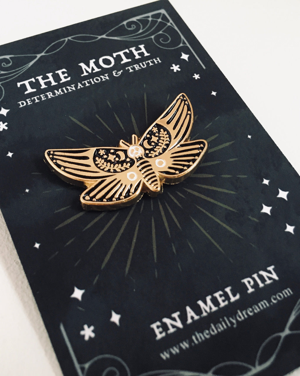 Moth - Enamel Pin Badge Brooch