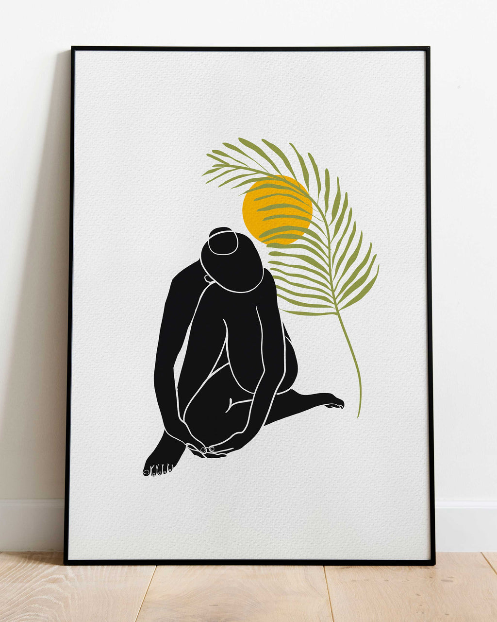 Palm Girl - Nude Silhouette Art Print