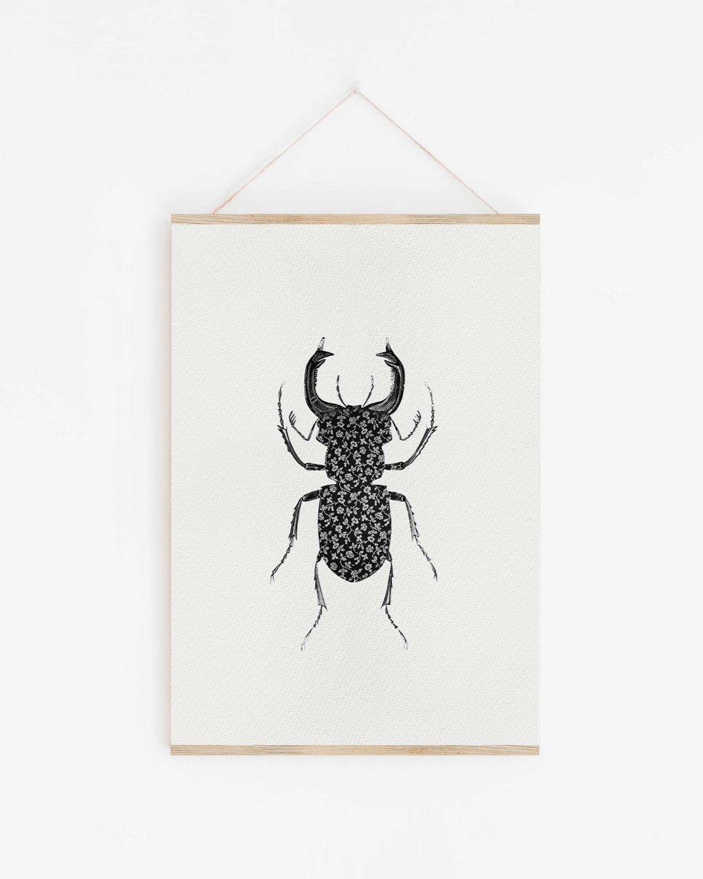 Wallpaper Stag Beetle - print of original illustration on watercolour paper