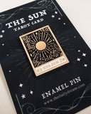 Sun Tarot Card - Enamel Pin Badge Brooch