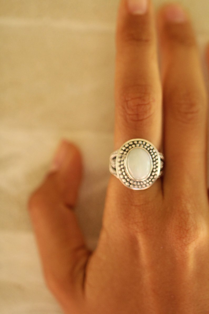 White Jade Ring