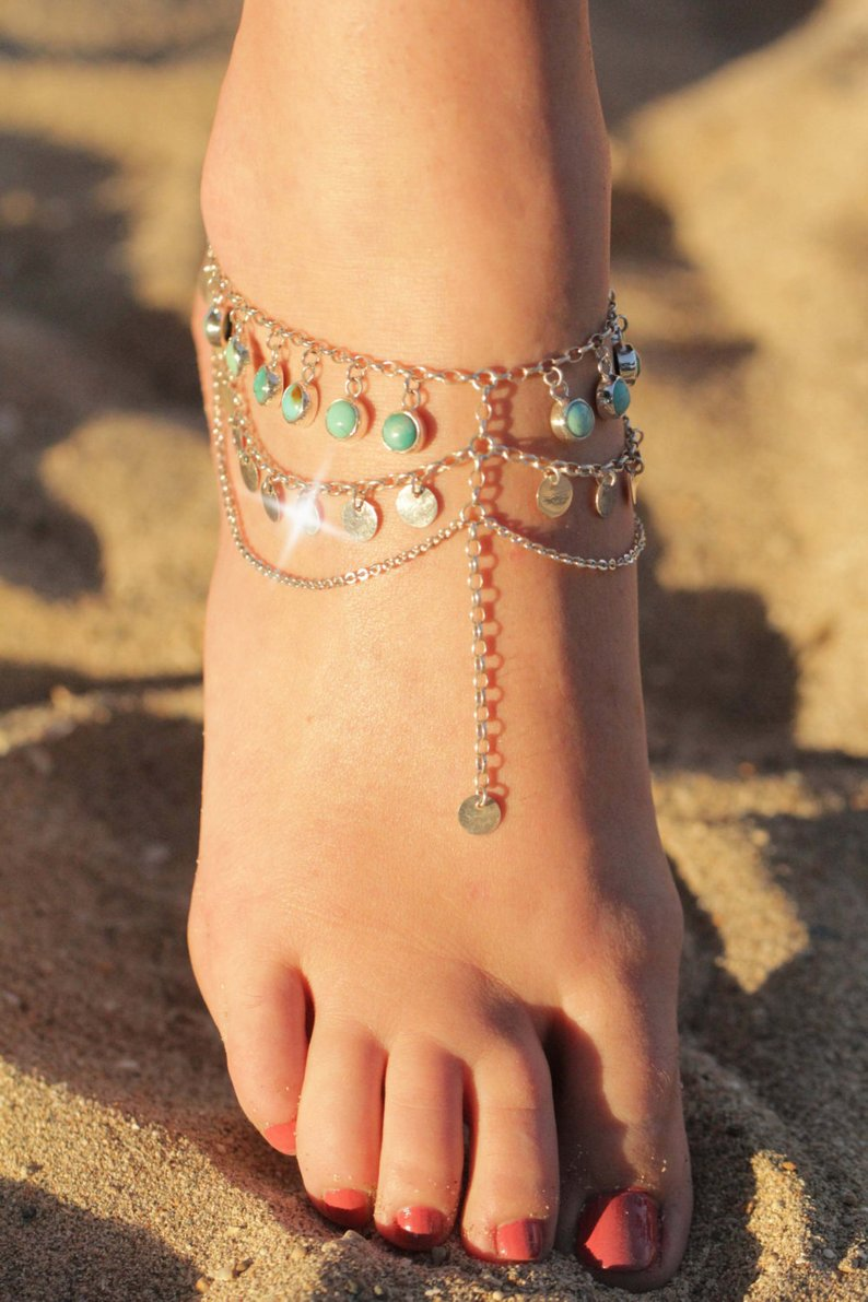 Sterling Foot Chain