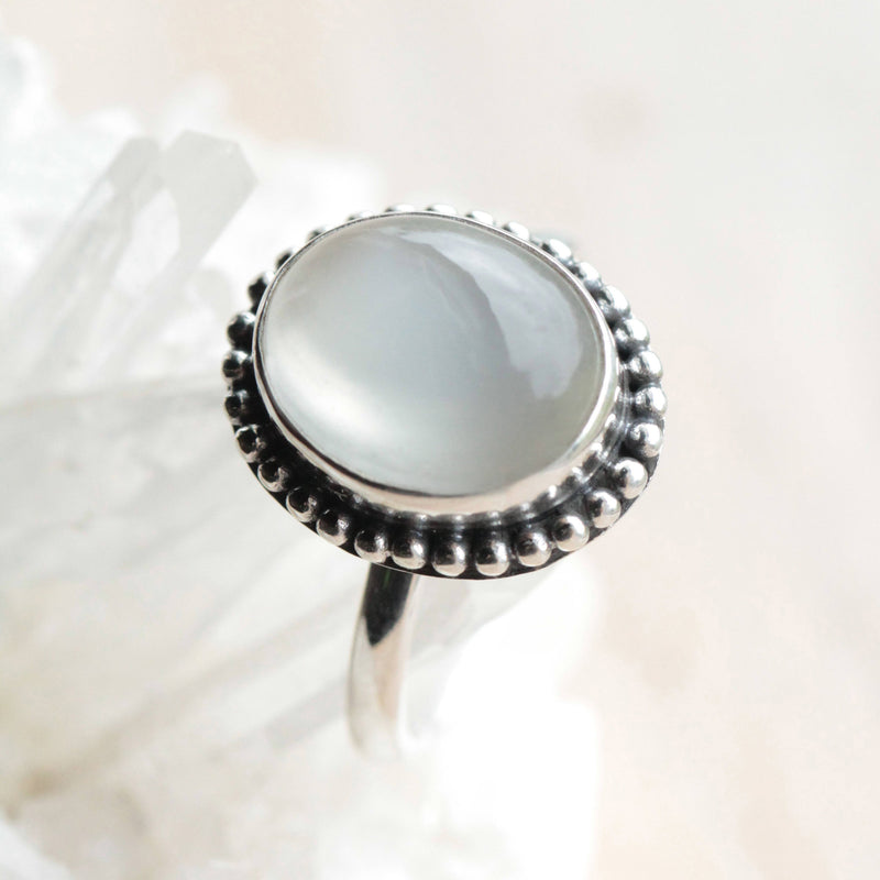 Simple, Moonstone Ring, 925 Sterling, Silver Rings, Jewelry, Bohemian, Moonstone Jewelry, Oval, White, Gypsy, Stylish, Pretty, Unique, OOAK