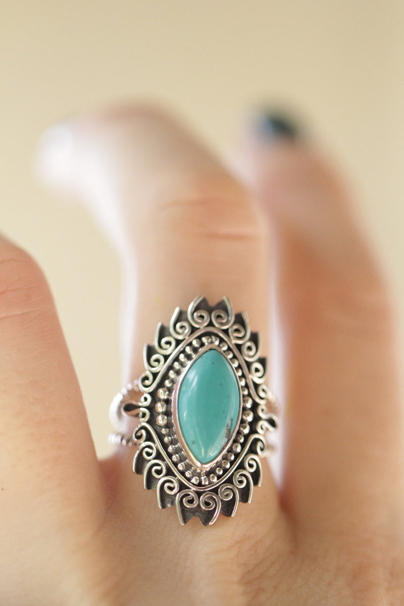 Turquoise Rings, Silver Rings, Statement Ring, Knuckle Ring, Large, Boho Ring, Initial Ring, Trendy Ring, Gemstone Rings, Cocktail Ring, Big