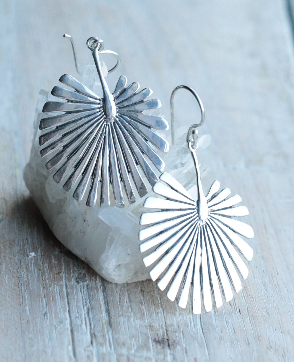 Palm Earrings, Silver Palm Leaf Earrings, Tropical Style. Tropical Jewelry, Trendy Jewelry, Silver Earrings, Large Palm Earrings, Large