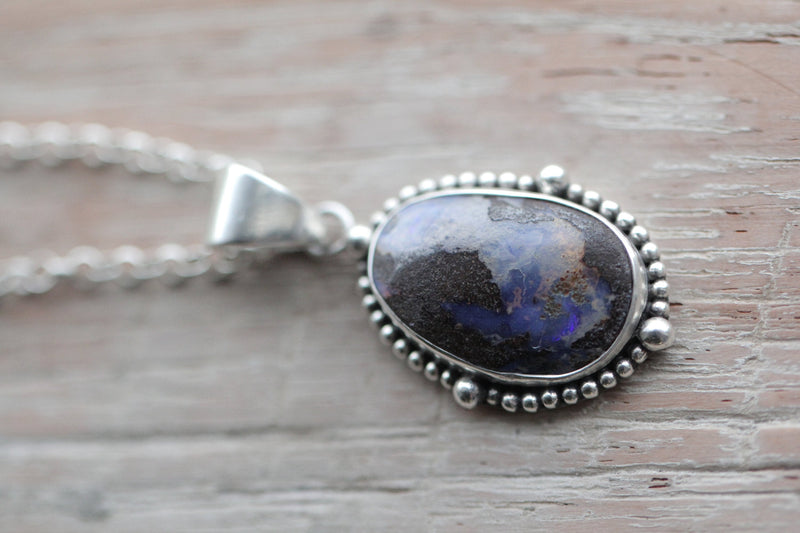 Boho Opal Necklace