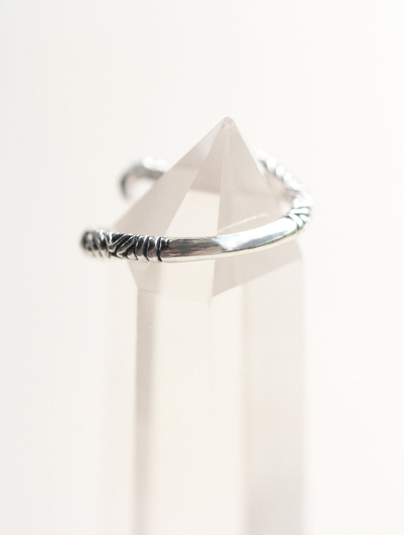 Simple Wave Ring in Solid 925 Sterling Silver