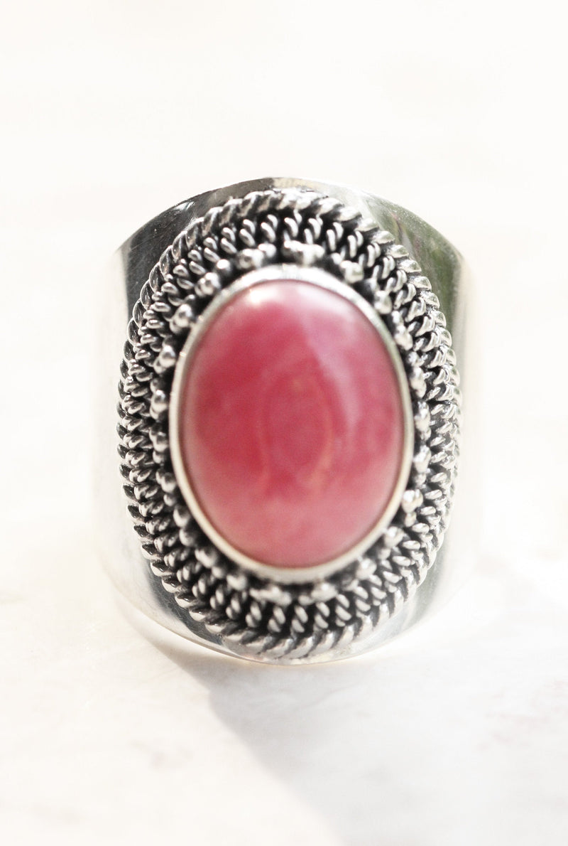 Rings, Boho Rings, Boho Silver Ring, Long Rings, Ethnic Rings, Bohemian, Gypsy Rings, Silver Rings, Hippie Ring, Boho Jewelry, Rhodonite